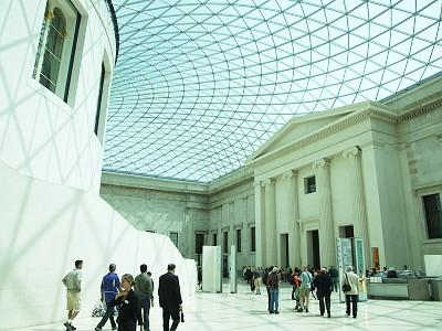 Centrální dvůr v britském muzeu