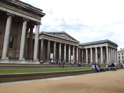 Průčelí britského muzea