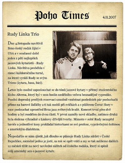 Rudy Linka Newspaper