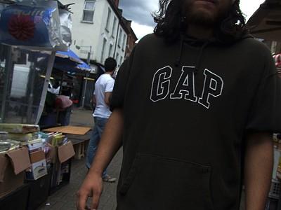 Černoch na trhu v High Street