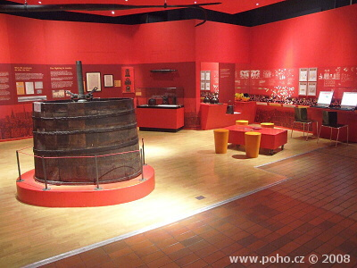 Interiér londýnského muzea