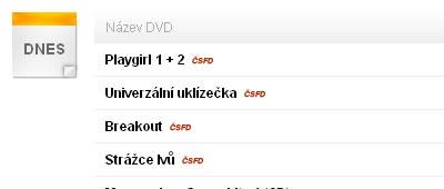 Přehled vycházejících DVD