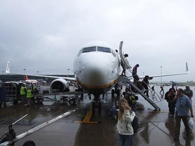 Přílet na letišti Stansted