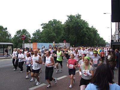 Běh ulicemi Londýna
