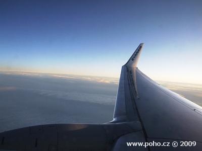 Rozbřesk za letu
